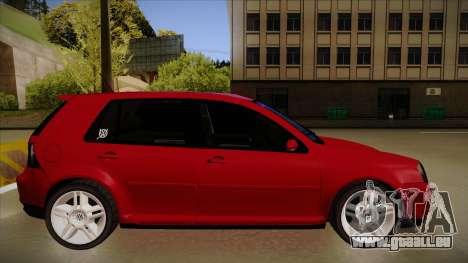VW Golf GTI 2008 pour GTA San Andreas sur la vue arrière gauche