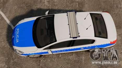 Peugeot 508 Polish Police [ELS] für GTA 4 rechte Ansicht