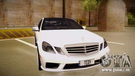 Mercedes-Benz E63 6.3 AMG Tedy pour GTA San Andreas laissé vue