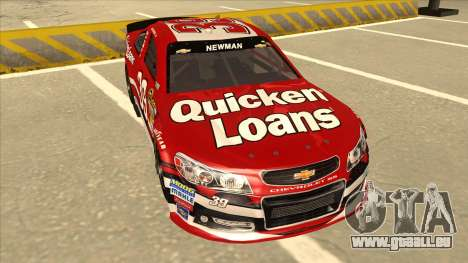 Chevrolet SS NASCAR No. 39 Quicken Loans für GTA San Andreas linke Ansicht