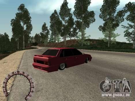 BPAN VAZ 2115 pour GTA San Andreas sur la vue arrière gauche