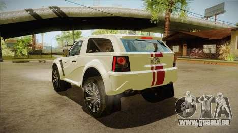 Bowler EXR S 2012 HQLM pour GTA San Andreas sur la vue arrière gauche