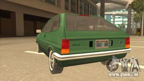 Ford Fiesta pour GTA San Andreas vue arrière