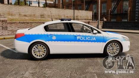 Peugeot 508 Polish Police [ELS] für GTA 4 linke Ansicht