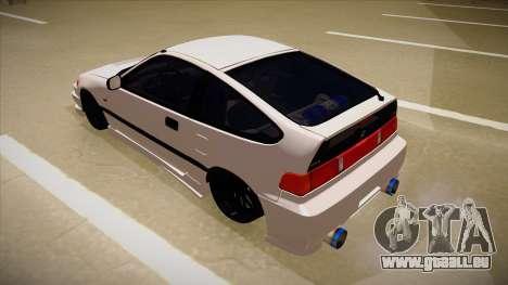 Honda CRX JDM Style pour GTA San Andreas vue arrière