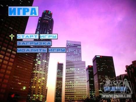 Nouveau menu et une nouvelle police pour GTA San Andreas troisième écran