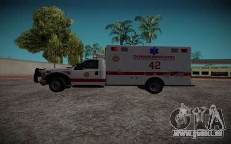 Ford F350 Super Duty San Andreas Emerency Medica pour GTA San Andreas laissé vue