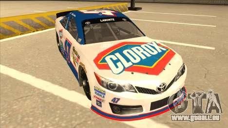 Toyota Camry NASCAR No. 47 Clorox für GTA San Andreas linke Ansicht