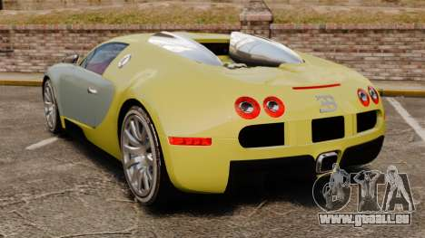 Bugatti Veyron Gold Centenaire 2009 für GTA 4 hinten links Ansicht