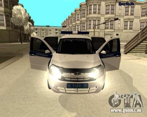 Lada Granta 2190 Polizei V 2.0 für GTA San Andreas Innenansicht