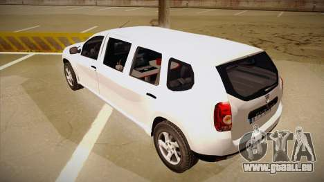 Dacia Duster Limuzina pour GTA San Andreas vue arrière