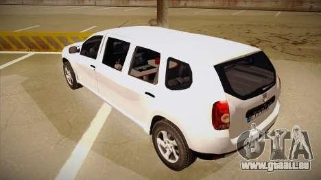 Dacia Duster Limuzina für GTA San Andreas Rückansicht