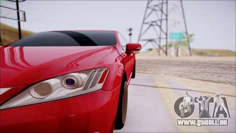 Lexus ES350 2010 pour GTA San Andreas vue de côté