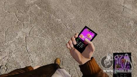 Thèmes pour les marques de Fast-Food téléphones pour GTA 4 quatrième écran