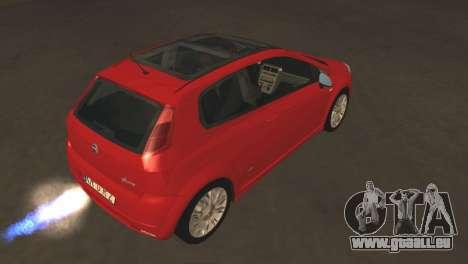 Fiat Grande Punto pour GTA San Andreas vue arrière
