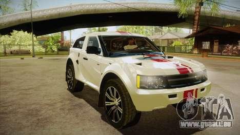 Bowler EXR S 2012 HQLM für GTA San Andreas Rückansicht
