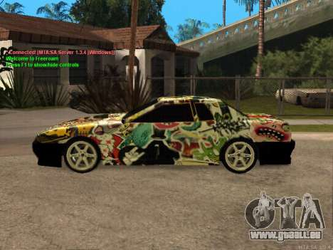New Elegy für GTA San Andreas obere Ansicht