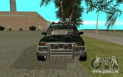VAZ 21213 pour GTA San Andreas vue de droite