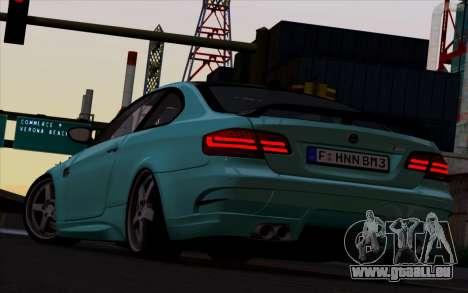 BMW M3 Hamann pour GTA San Andreas sur la vue arrière gauche