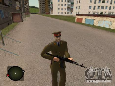 Major General der russischen Armee für GTA San Andreas her Screenshot