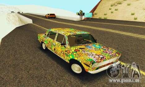 VAZ 21011 Hippie pour GTA San Andreas sur la vue arrière gauche