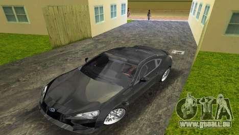 Subaru BRZ Type 2 pour GTA Vice City sur la vue arrière gauche