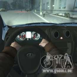Lada Granta Hatch - VAZ 2191 pour GTA 4 Vue arrière