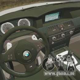 BMW M5 E60 Metropolitan Police 2006 ARV [ELS] pour GTA 4 est un côté