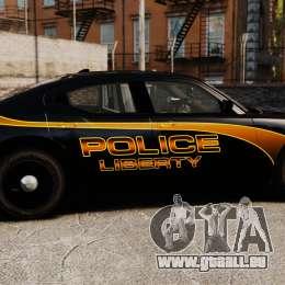 Dodge Charger 2008 LCPD Slicktop [ELS] für GTA 4 linke Ansicht