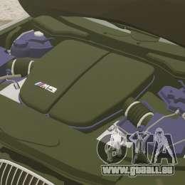 BMW M5 E60 Metropolitan Police 2006 ARV [ELS] pour GTA 4 est une vue de l'intérieur