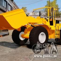 Frontal Chargeuse sur pneus Caterpillar 966 g pour GTA 4 est un côté