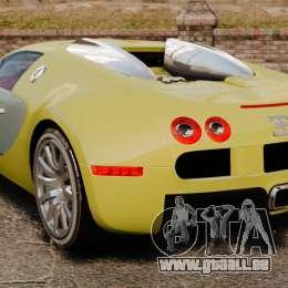 Bugatti Veyron Gold Centenaire 2009 pour GTA 4 Vue arrière de la gauche