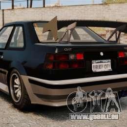 Mise à jour Futo pour GTA 4 Vue arrière de la gauche