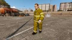 Jaunes uniformes pour les pompiers
