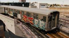 Nouveau graffiti sur la v1 de métro