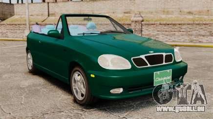 Daewoo Lanos 1997 Cabriolet Concept v2 pour GTA 4