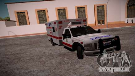 Ford F350 Super Duty San Andreas Emerency Medica pour GTA San Andreas