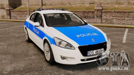 Peugeot 508 Polish Police [ELS] für GTA 4