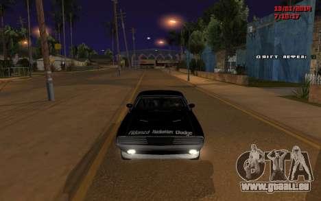 Challenger Missile für GTA San Andreas linke Ansicht