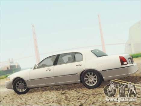 Lincoln Town Car 2010 für GTA San Andreas obere Ansicht