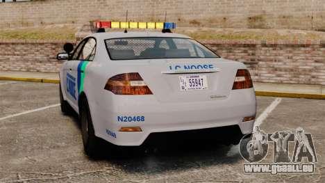 GTA V Vapid Police Stanier Interceptor [ELS] pour GTA 4 Vue arrière de la gauche