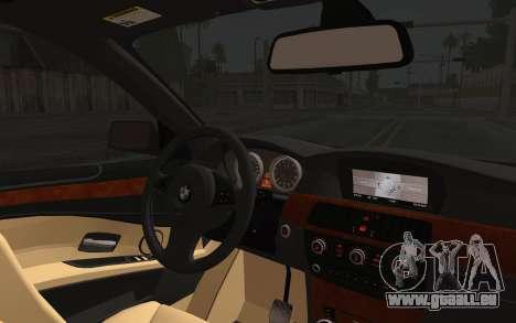 BMW 530xd DPS pour GTA San Andreas vue arrière