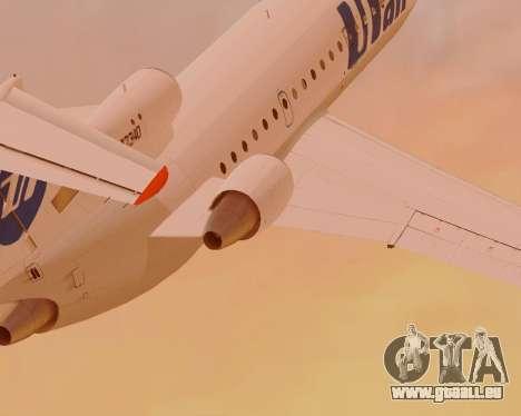 Yak-42 d UTair pour GTA San Andreas sur la vue arrière gauche
