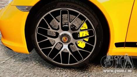 Porsche 911 Turbo 2014 [EPM] Turbo Side Stripes pour GTA 4 Vue arrière