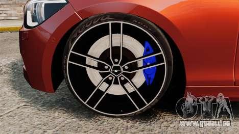 BMW M135i 2013 pour GTA 4 est une vue de l'intérieur