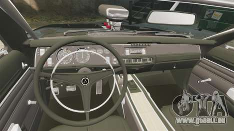 Dodge Charger 1969 pour GTA 4 est un côté