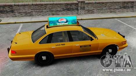 Véritable publicité sur les taxis et les bus pour GTA 4 dixièmes d'écran