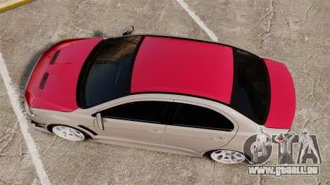 Mitsubishi Lancer Evolution X GSR 2008 für GTA 4 rechte Ansicht