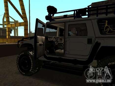 Hummer H1 Offroad pour GTA San Andreas vue de côté