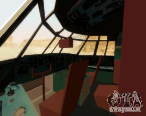 Ilyushin Il-76td pour GTA San Andreas vue intérieure
